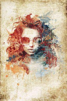 Tuto photoshop CC La Peinture Aquarelle avec Photoshop CC                                                                                                                                                                                 Plus