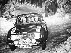 Per Eklund (Saab V 4 96) Rallye de Suède - L'Automobile Avril 1973