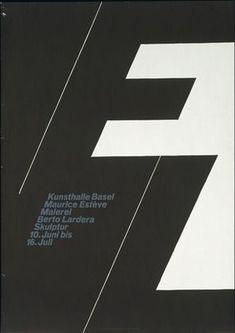 Armin Hofmann. Kunsthalle Basel, Maurice Esteve, Malerie, Berto Lardera, Skulptur, 10. Juni bis 16. Juli. 1961 moma.org