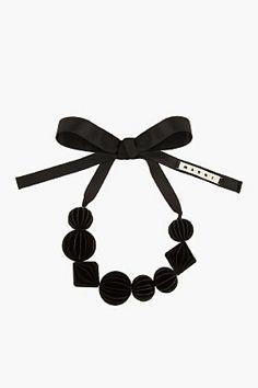MARNI EDITION Black Oversize Resin Bead Necklace