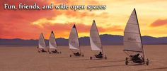If you've always wanted to try sailing, but the possibility of turtling a boat in rocky seas makes you queasy, land sailing is really the perfect Dinghy, Travel Bugs, The Other Side, Omega, Las Vegas, Sailing, Places To Go, Road Trip, Boat