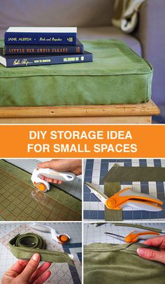 Try your hand at a DIY cushion-top storage bench and create useful storage space in small areas. This would look great in a living room, bedroom or lounge area. We love a project that doubles as a place to store items and a place to relax.