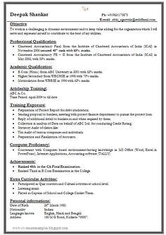 A C Technician | Resume Format | Pinterest | Resume, Resume examples ...