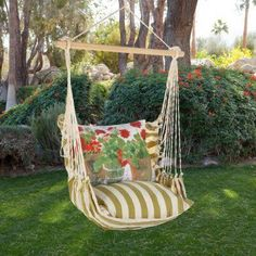 Outdoor Magnolia Casual Geranium Hammock Chair & Pillow Set - SPRG-SP
