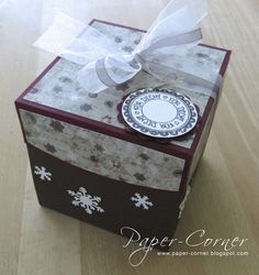 Paper-Corner: 15 Minuten Advent Stampin Up Christmas, Christmas Diy, Advent Box, Exploding Boxes, Explosion Box, Decorative Boxes, Paper Crafts, Kids, Silhouette Cameo