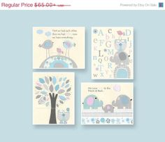 Nursery Decor, Children Room Art, Set of 4 8x10 print, light pink, baby blue, first we had, moon and back, light blue, gray, pink, baby roo