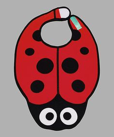 Take a look at this Red & Black Ladybug Bib by Dibs on Bibs on #zulily today!