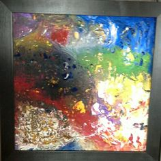 Acrylic with fluid made by E.Alves