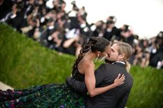 Pin for Later: The 69 Met Gala Moments You Need to See  Pictured: Zoe Saldana and Marco Perego