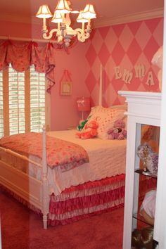 Bouncing Off The Walls Finally Big Girl Room Reveal For The Chitlins Pinterest Big