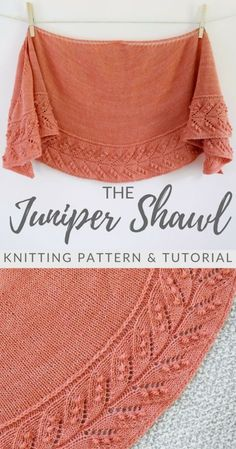 Thanks barschoen for this post.The Juniper Shawl.The Juniper Shawl - knitting pattern and video tutorial for a classic crescent shaped shawl with a lovely lace and nupp edging. Poncho Knitting Patterns, Easy Knitting, Knitting Designs, Knit Patterns, Knit Poncho, Knitting Yarn, Knit Or Crochet, Crochet Shawl, Knit Lace