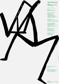 Jazz festival Willsau (1991) poster design by Niklaus Troxler