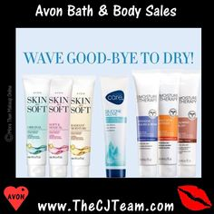 #Avon Campaign 6 Bath & Body Care Sales. Regularly $4 and up. Shop online with FREE shipping with any $40 online Avon purchase. #CJTeam #Sale #AdvanceTechniques #HairCare #WinterSkincare #VolumeBoostingHairCare  #Savings #SkinSoSoft #Senses #FootWorks #MoistureTherapy #Lotion #Avon4Me #C6 #GoodBye #Dry #HandCream #Lotion #MarkBathAndBody Shop Avon online @ www.TheCJTeam.com