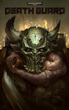 Warhammer 40k Art, Warhammer Fantasy, Warhammer Models, Chaos 40k, Fantasy Demon, Sci Fi Characters, Space Marine, Cool Pictures, Cool Art