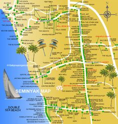 Seminyak Map is simple map about Seminyak Village located north of Kuta Bali as a tourist information covering favorite place for dine, beach and attraction Bali Lombok, Canggu Bali, Bali Baby, Voyage Bali, Island Villa, Bali Honeymoon, Bali Holidays, Gili Island, Wanderlust