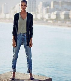 Instead of multiple rolls, cuff up your jeans only once. | 16 Ways To Tuck, Tie, Roll, And Twist Your Clothes Like A Stylist