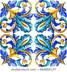 Find maiolica stock images in HD and millions of other royalty-free stock photos, illustrations and vectors in the Shutterstock collection. Folk Art Flowers, Flower Art, Italian Pattern, Wood Carving Designs, Decoupage Vintage, Islamic Art, Watercolor Illustration, Art Floral, Background Patterns