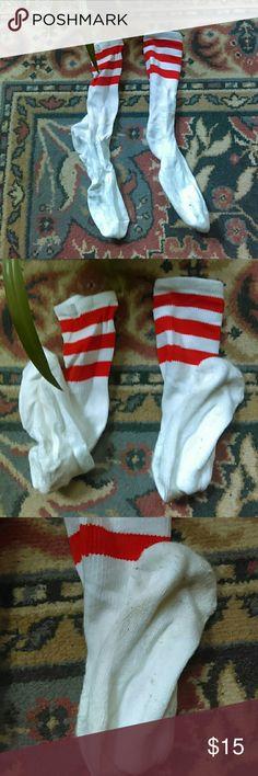 American Apparel Orange Striped Knee high Socks American Apparel Orange Stripe Knee High Socks One size American Apparel Accessories Hosiery & Socks