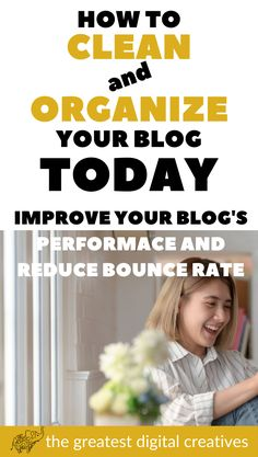 How to clean and organize your blog today: Improve your blog's performance and reduce bounce rate. Focus on the things that matter. Here are simple, inspiring, actionable ways on how to declutter your WordPress blog and make blogging life easy. The idea of decluttering can be overwhelming. But it doesn't have to be. #decluttering #howtodeclutter #howtodeclutter