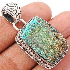 Azurite 925 Sterling Silver Pendant Jewelry AZUP244 - JJDesignerJewelry