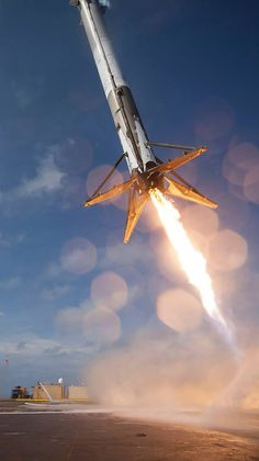 On April SpaceX launched a Falcon 9 rocket with supplies for the astronauts on the International Space Station (this was before the more. Cosmos, Spacex Rocket Landing, Space Exploration Technologies, Spacex Falcon 9, Space Race, Air Space, Space And Astronomy, Space Program, To Infinity And Beyond