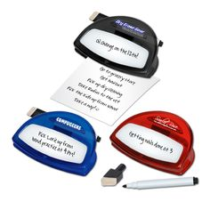 Magnetic Dry Erase memo Clip and Marker Set
