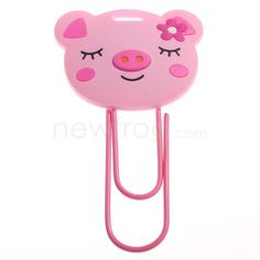 Funny Cute Pink Pig Shape Cartoon Figure Bookmark Paperclip New $2.22 (out of stock!) sad. :(