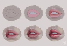 Semi-realistic Lips by serafleur.deviantart.com on @DeviantArt