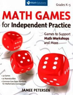 These thirty-three classroom-tested games can be played successfully by learners on their own, during math workshops, or at math stations. You'll find all-time favorites like Circles and Stars , Lefto