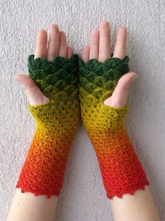 Crochet Pattern Fingerless Gloves Spring Fashion 2016 7