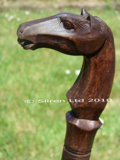 Solid Wooden Horse Walking Stick