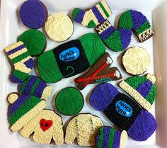 Knitting Set for Annie by Sweet Hope Cookies, via Flickr