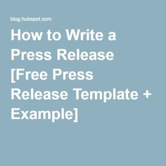 how to write a good press release template - press release medium and business on pinterest