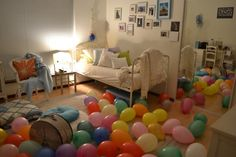 Great surprise birthday idea.. Macie will wake up to this in the morning