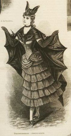A Victorian Halloween bat costume. Nice to know Halloween isn't an entirely new concept!