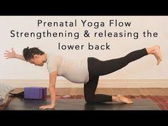 Prenatal Yoga Flow - lower back 30min - YouTube