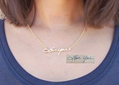SPECIAL 20% OFF Handwriting Necklace Memorial by AshleeArtis