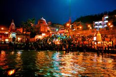 A true spectacle to behold and spirituality to be felt. - Ganga Aarti at Haridwar.