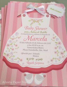 Spanish Pink And Gold Baby Shower Invitation Girl Baby Shower