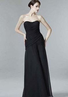 Black A line Floor Length Chiffon Scoop Mother of the Bride Dress With A Jacket - 1300106230B - US$119.99 - BellasDress