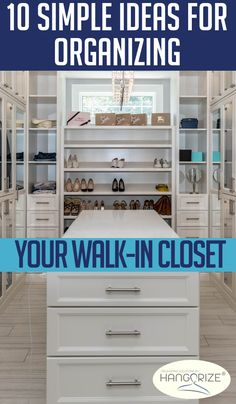 Whether your walk in closet is big or small, maximize the space you have with proper organization. Discover 10 simple ideas for organizing your closet here! Master Bedroom Closet, Small Room Bedroom, Bedroom Closets, Bedroom Ideas, No Closet Solutions, Storage Solutions, Closet Organization, Organization Ideas, Organizing Your Home