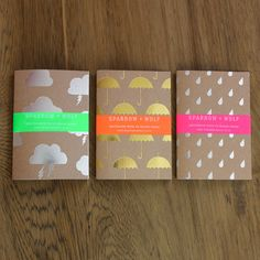 Set Of Three A6 Notebooks by Sparrow + Wolf