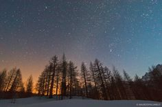 Night and stars in the Alps