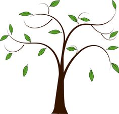 Tree with Leaves Clip Art | Tree Leaves clip art - vector clip art online, royalty free & public ...