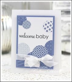 Modern baby card using Paper Smooches sentiment.