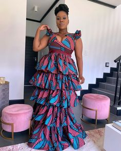 African Prom Dresses, African Dresses For Women, African Attire, African Women, Short Dresses, African Fashion Ankara, African Print Fashion, Africa Fashion, African Prints