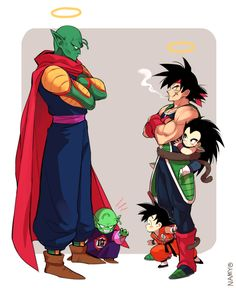King Piccolo, Piccolo, Bardock, Goku and Raditz!