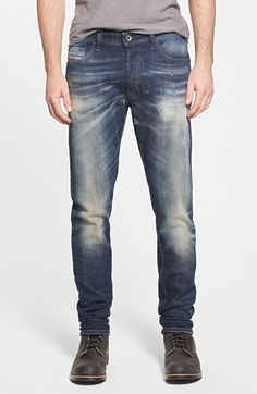 DIESEL® 'Tepphar' Skinny Fit Jeans (0835L) available at #Nordstrom