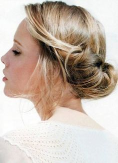 Chignon Bridesmaid Hairstyles For Long Hair