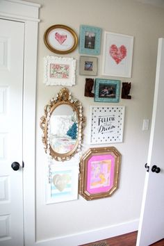 Vintage modern girl gallery wall.                                                                                                                                                                                 More